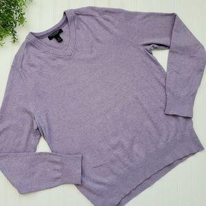 Banana Republic Purple Cotton Cashmere Sweater Med